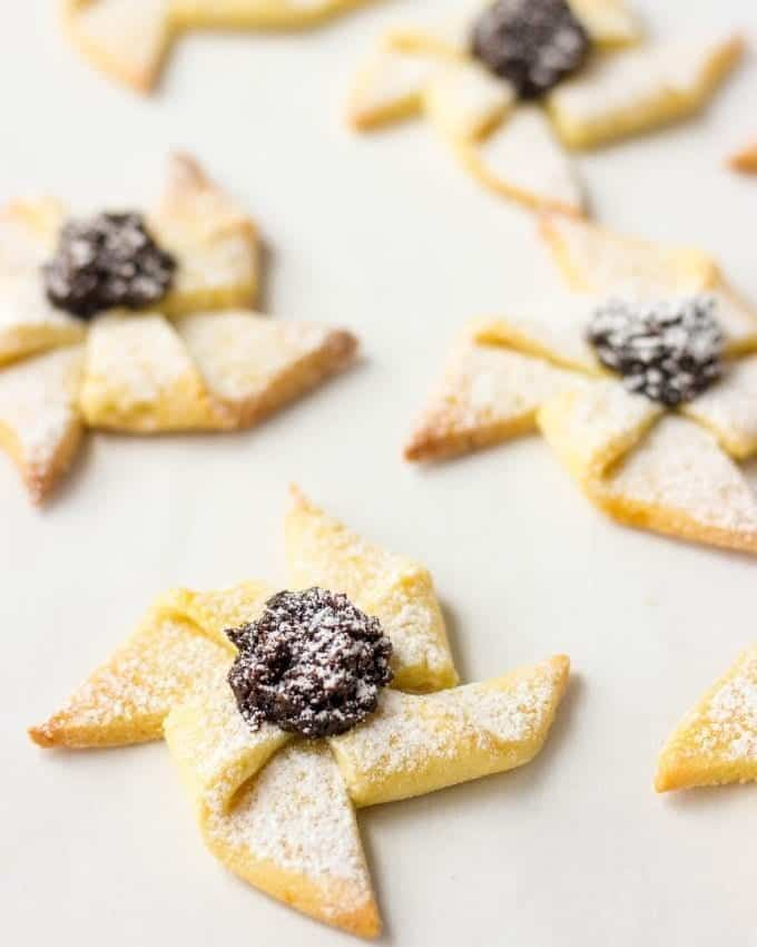 Are you looking for unique Christmas cookies recipe? Try Joulutorttu - Finnish Christmas Cookies with Prune Jam. They are crispy, delicious and super cute! The recipe makes a big batch, so you can freeze any leftovers.