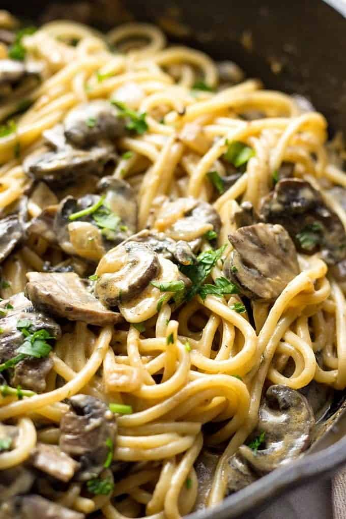 Mushroom Stroganoff Recipe (So Creamy!) - Lavender & Macarons