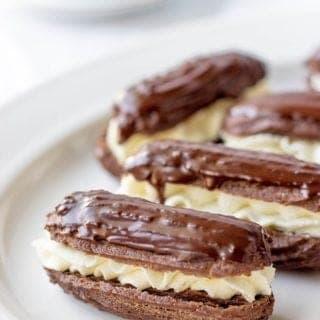Mini Chocolate Eclairs (Easy Recipe)