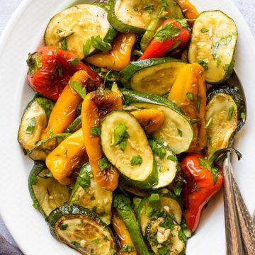 Vegan Bell Pepper And Zucchini Salad
