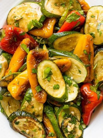 Vegan Bell Pepper And Zucchini Salad