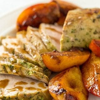 Baked Pork Tenderloin With Peaches and Peach Sauce