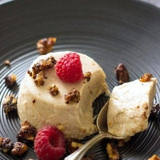 Yoghurt Panna Cotta With Almond Butter And Walnut Streusel