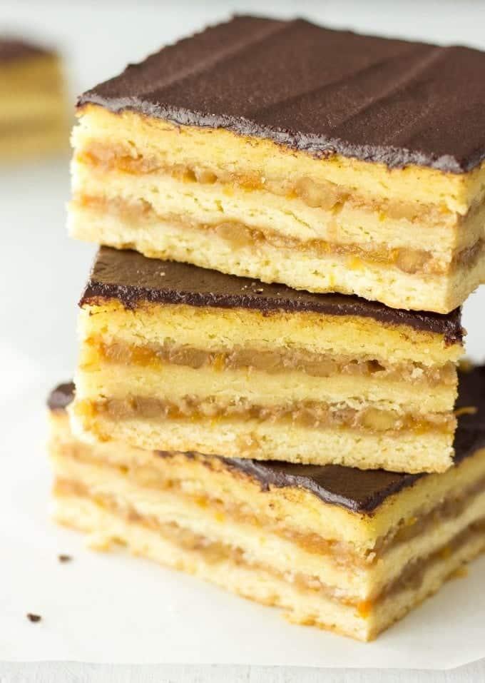 Gerbeaud Cake - Traditional Hungarian Dessert
