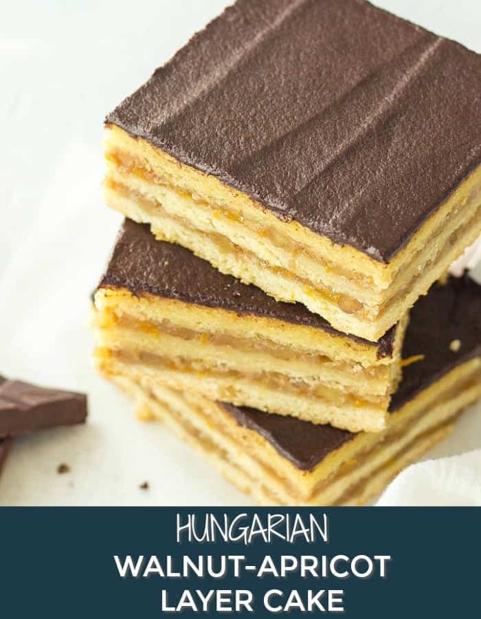 Hungarian Walnut-Apricot Layer Cake (Gerbeaud)