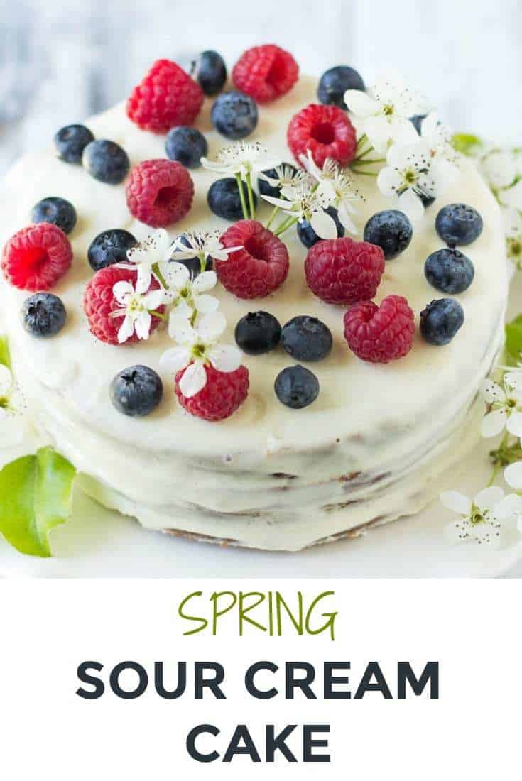 Russian Spring Sour Cream Cake