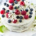 Vanilla Sour Cream Cake (Tort Smetannik)