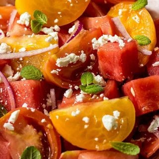 Watermelon Salad With Goat Cheese (Easy Summer Salad Recipe)