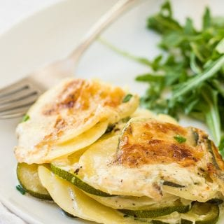 Potato and Zucchini Gratin