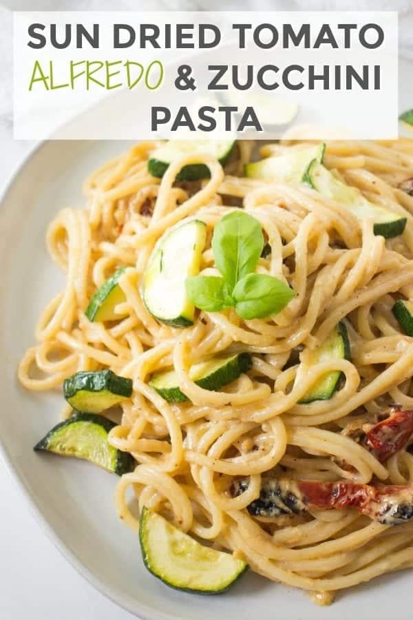 Sun Dried Tomato Alfredo Pasta