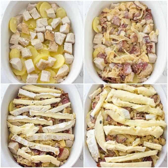 Arranging Chicken Tartiflette