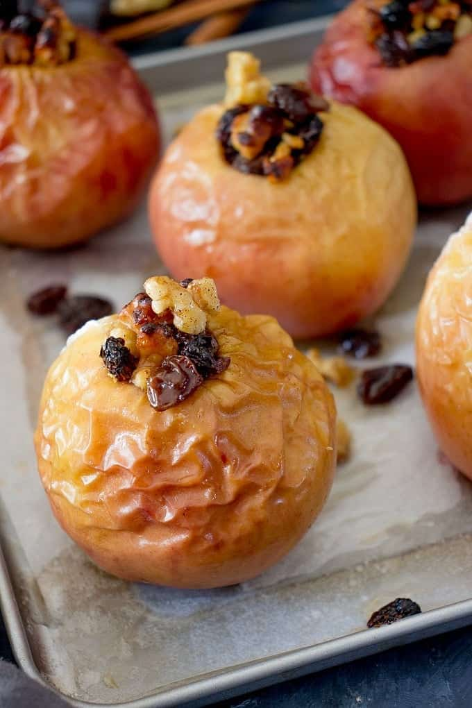 No Sugar Baked Apples