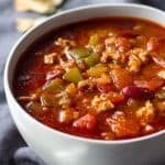 Best Crockpot Chili in a bowl
