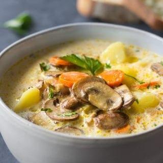 Homemade Mushroom Soup