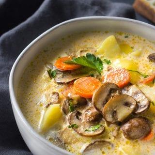 Mushroom Cheese Soup