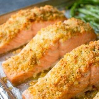 Easy Salmon Oreganata