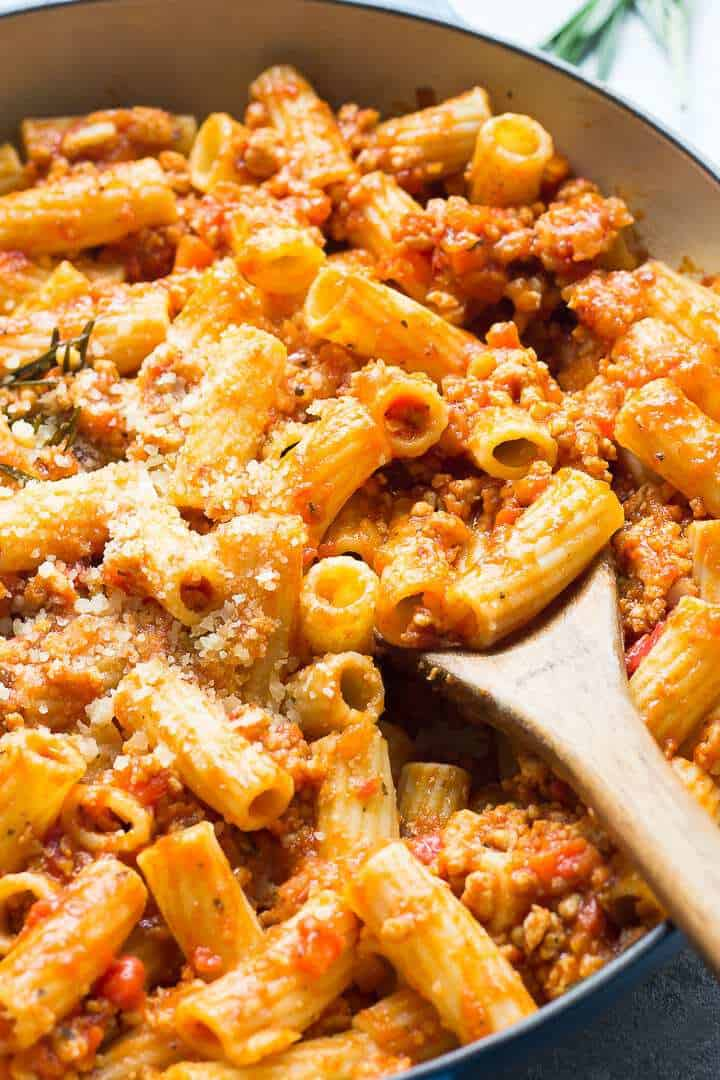 Chicken Ragu Pasta In a pot