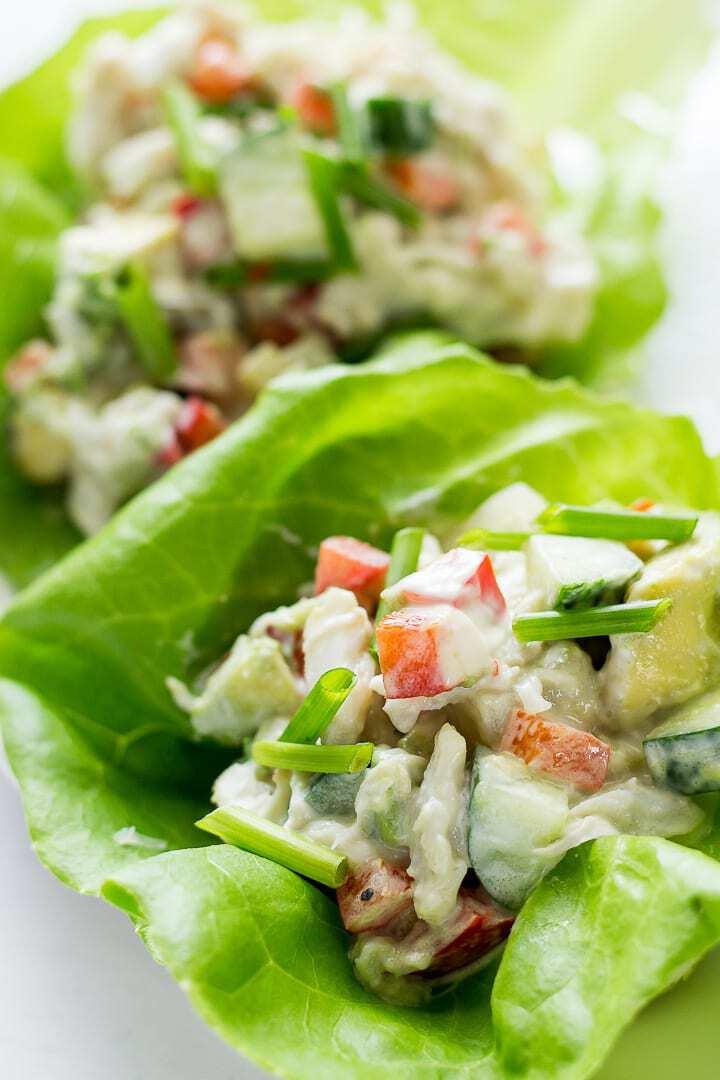 Crab lettuce cups