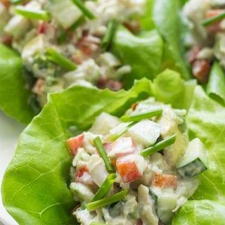 Crab Salad on a lettuce wrap