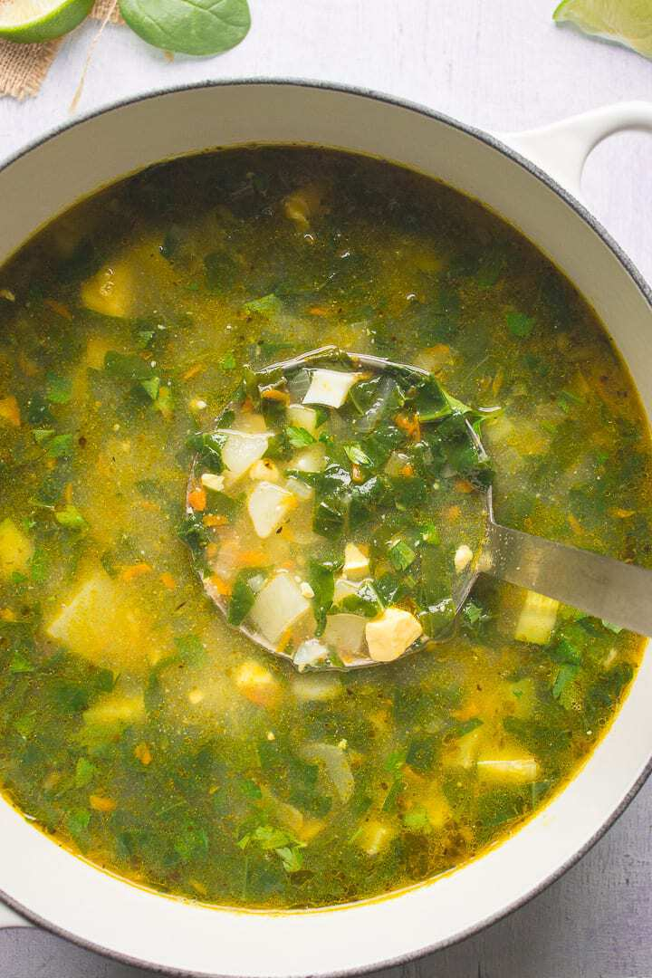 Ukrainian Green Borscht In A Pot