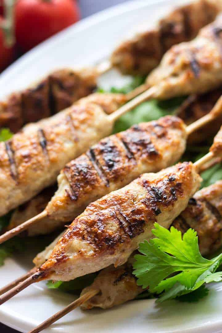 Lula Kebab on wooden skewers