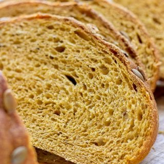 Sliced Pumpkin Yeast Bread