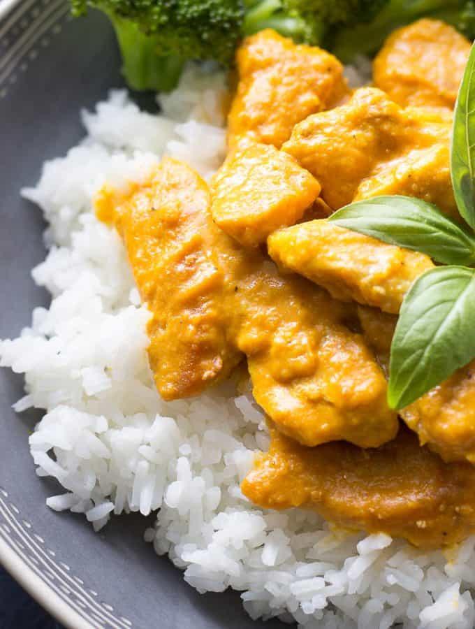 Pumpkin In Curry Sauce