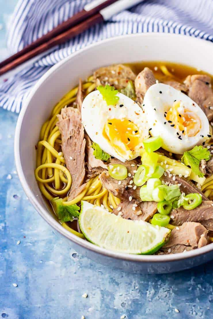 turkey ramen with egg