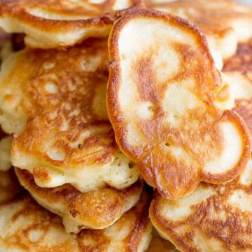 a pile of Russian pancakes on a plate
