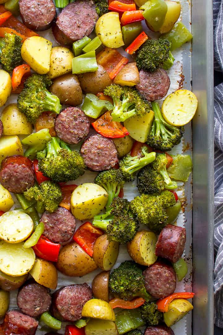 Sheet Pan Kielbasa and potatoes