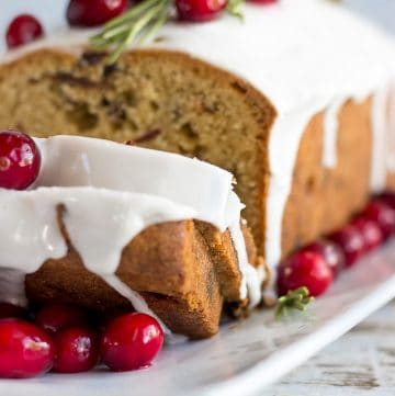 Christmas Fruit Cake on a platter