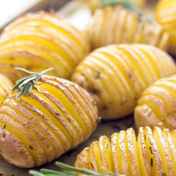 Easy Hasselback potatoes with rosemary