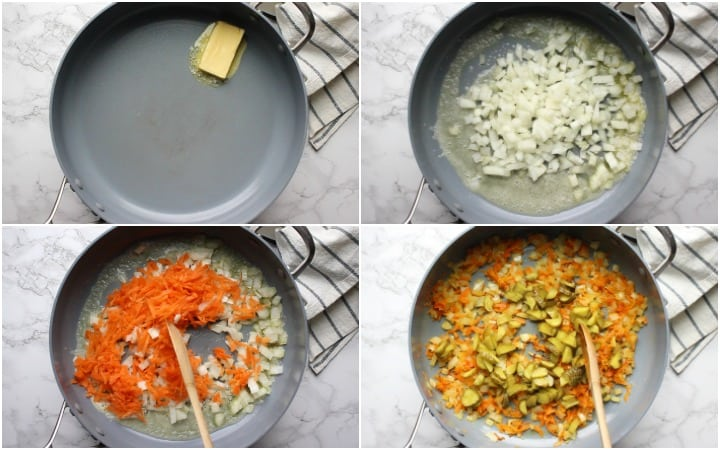 how to saute vegetables for dill pickle soup