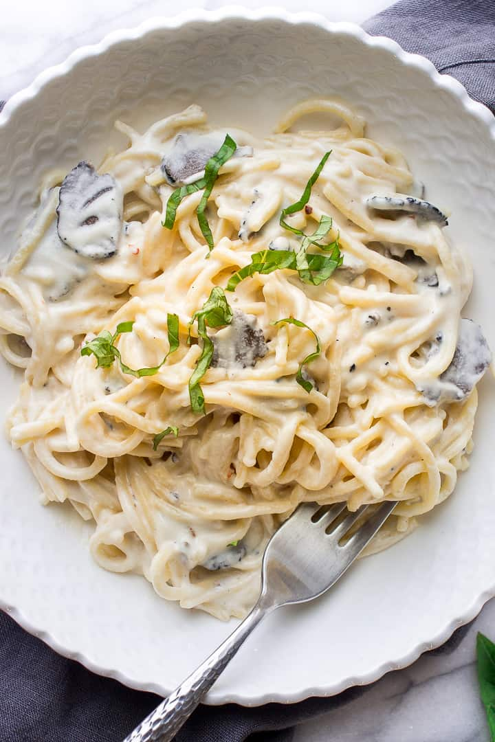 Healthy Truffle Pasta In A Cashew Sauce