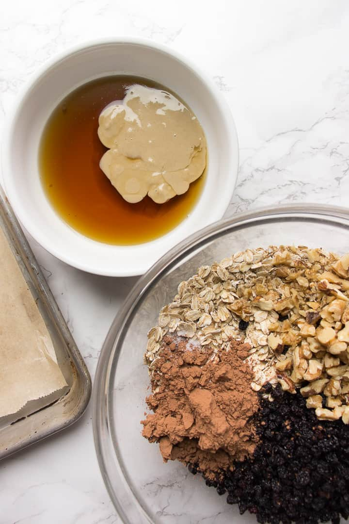 Ingredients for the Chocolate Tahini Granola