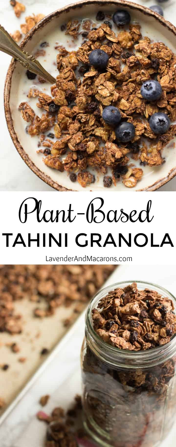 Plant Based Tahini Granola pin