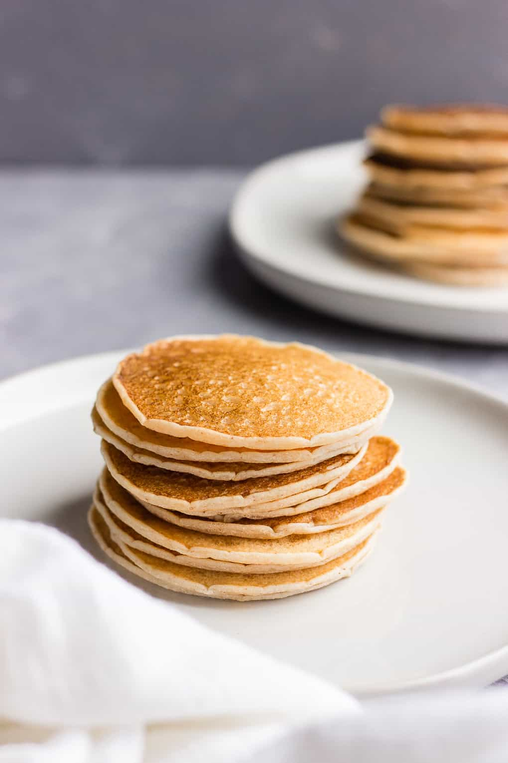 Stack of grain-free pancakes