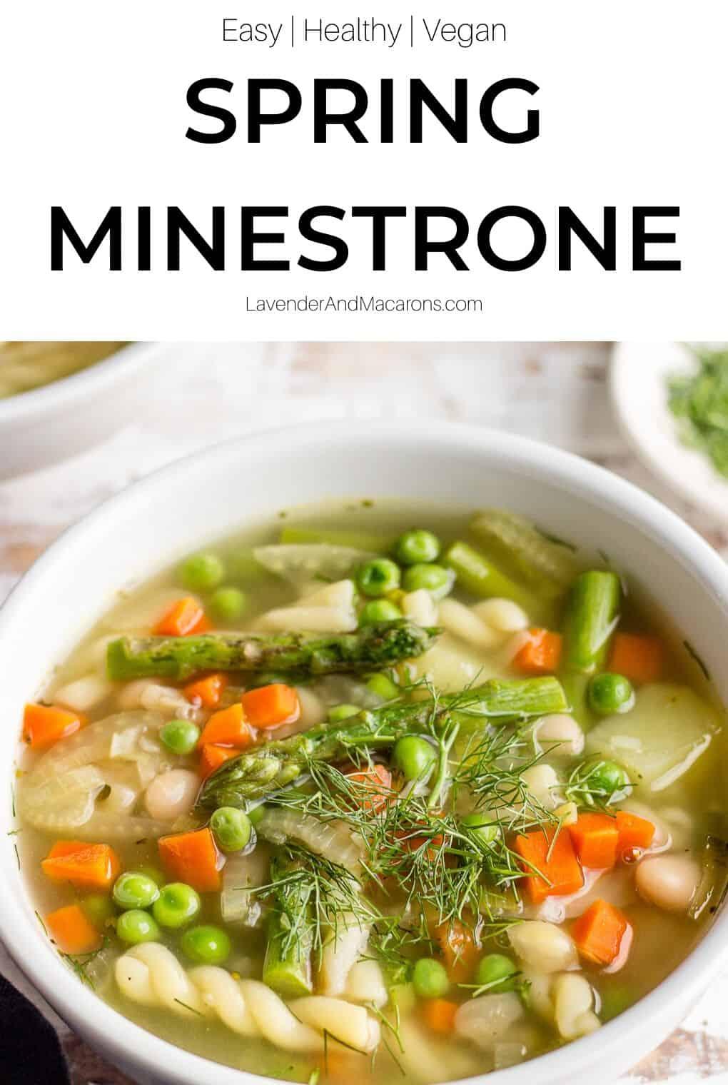 Green Minestrone Pinterest image