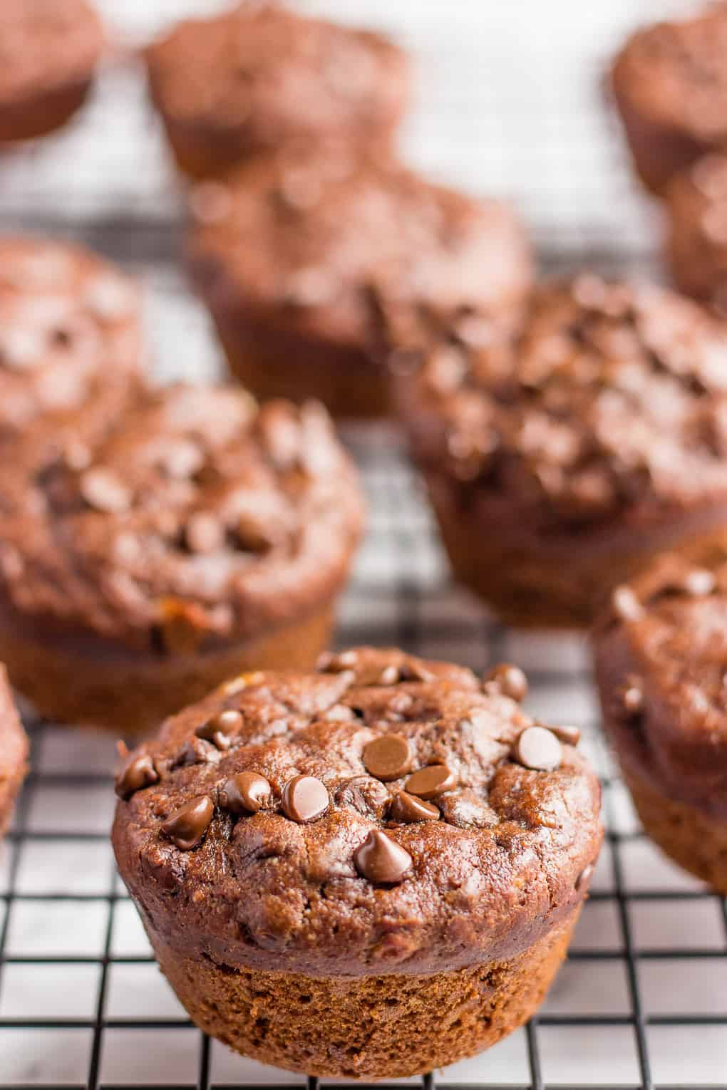 Oil Free Banana Muffins With Chocolate Chips