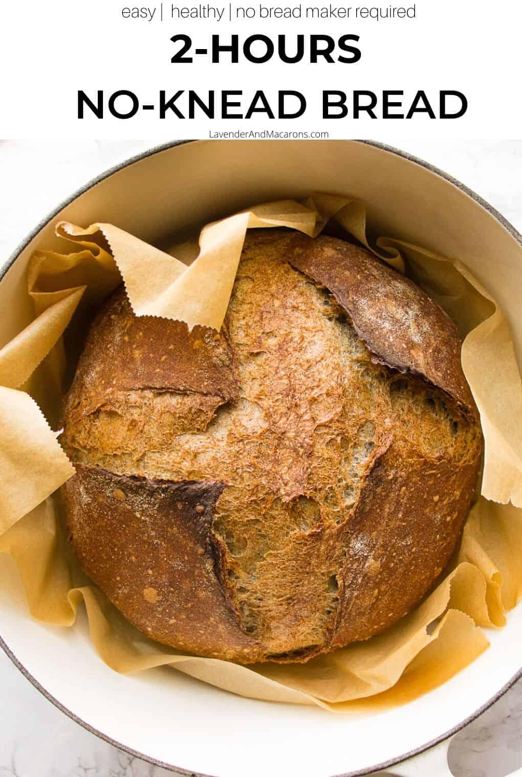 Pinterest no knead bread