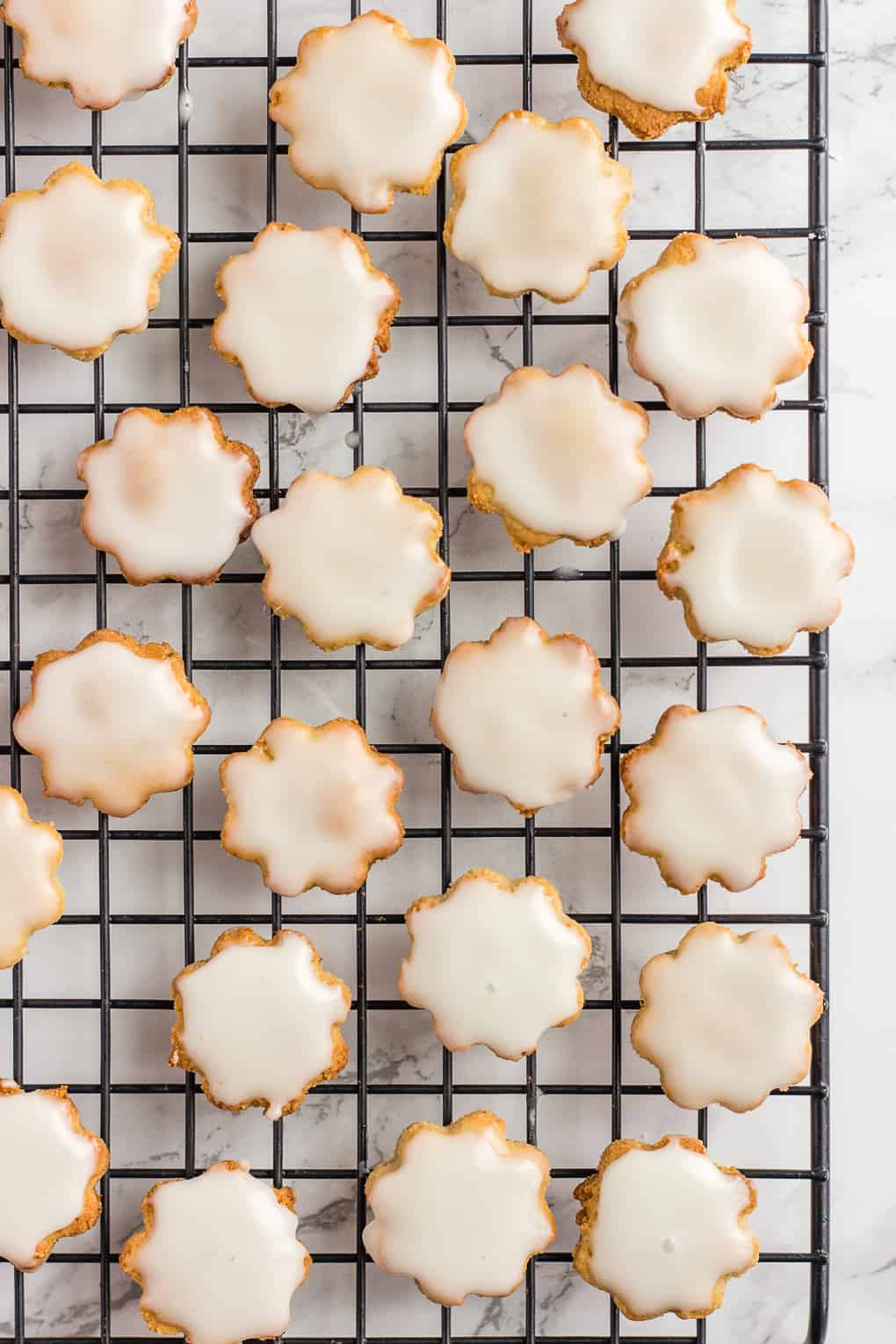 Eggless Almond Flour Cookies on a wire rack