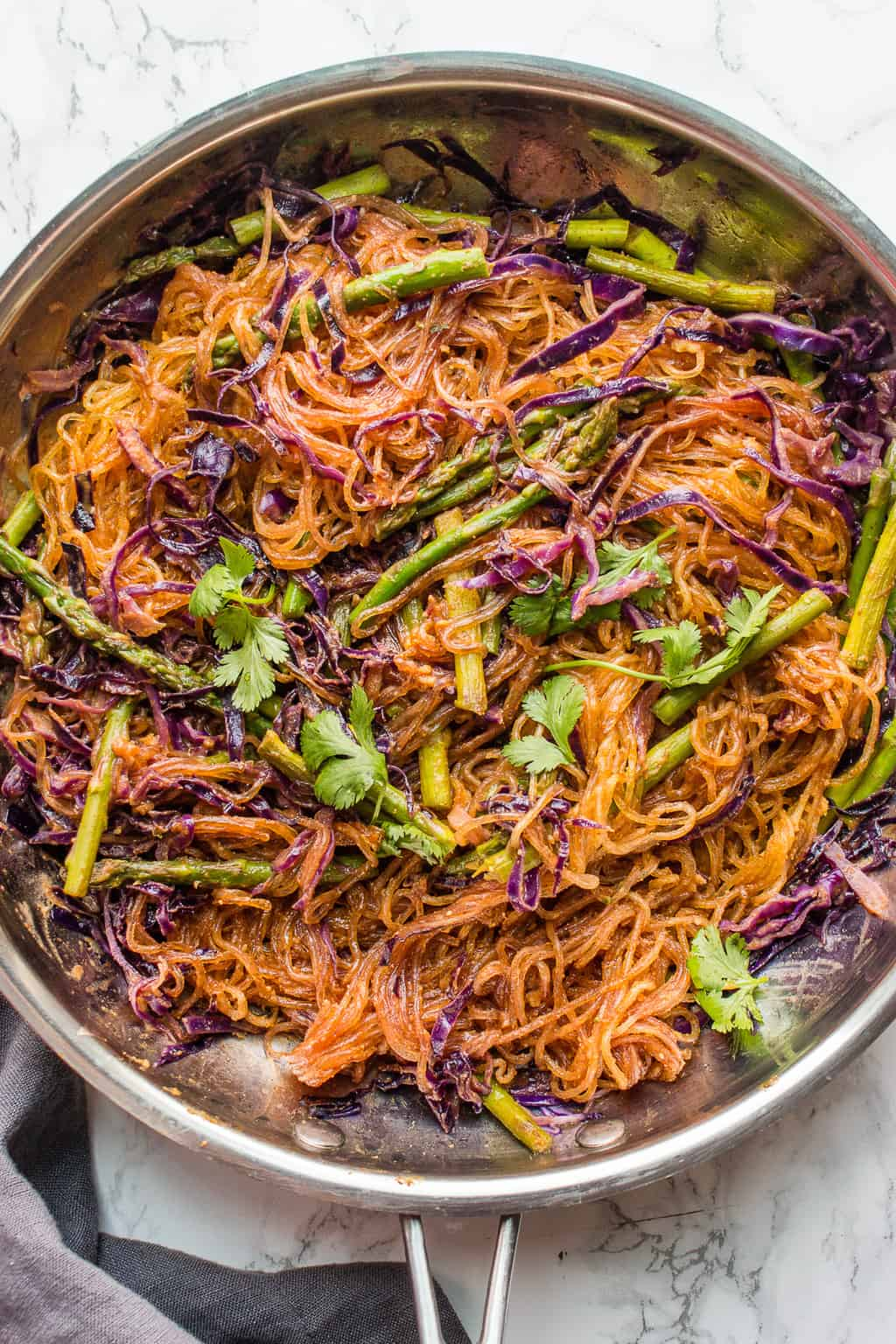 Vermicelli Stir Fry in a pan