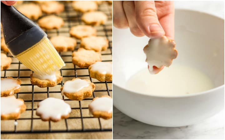 2 methods how to cover cookies with sugar glaze