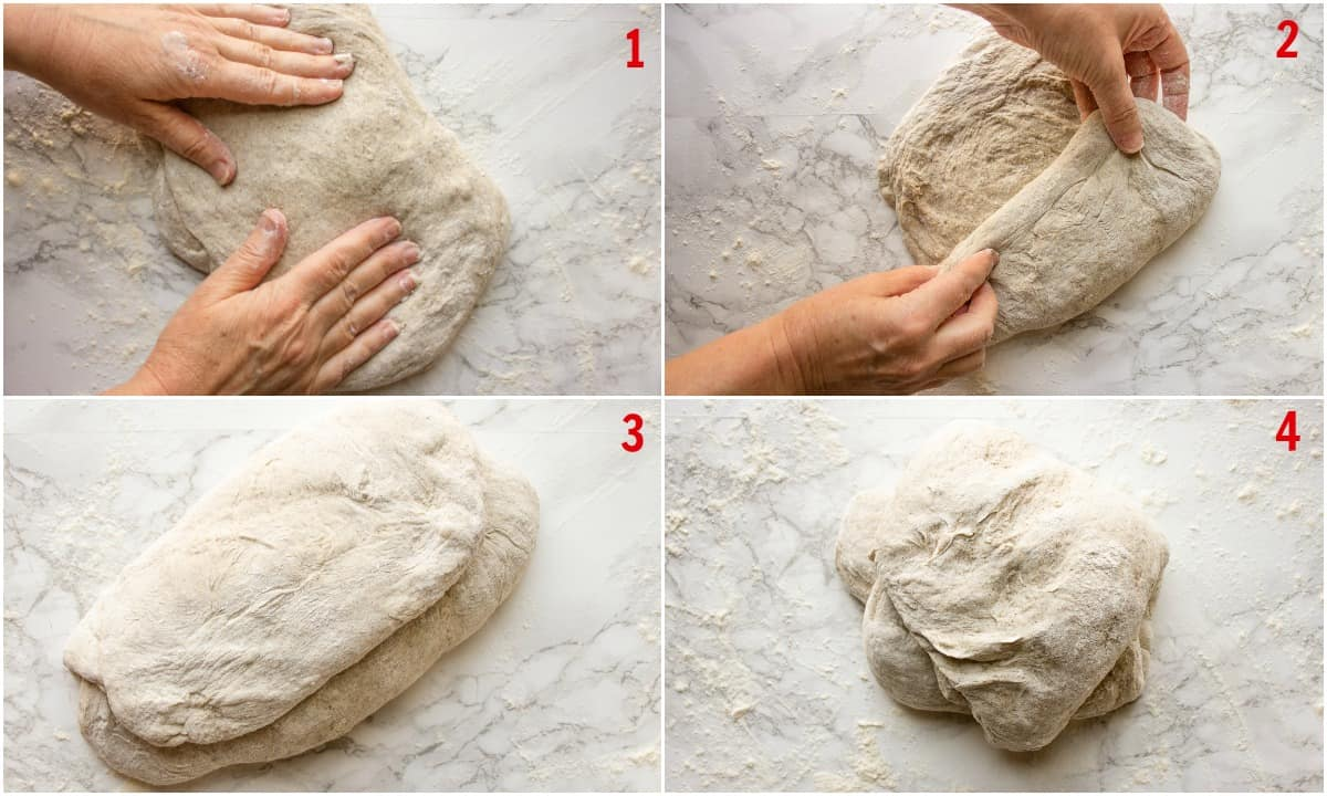 how to fold a dough for a bread