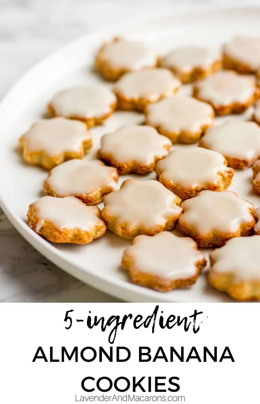 Almond Banana Cookies pin