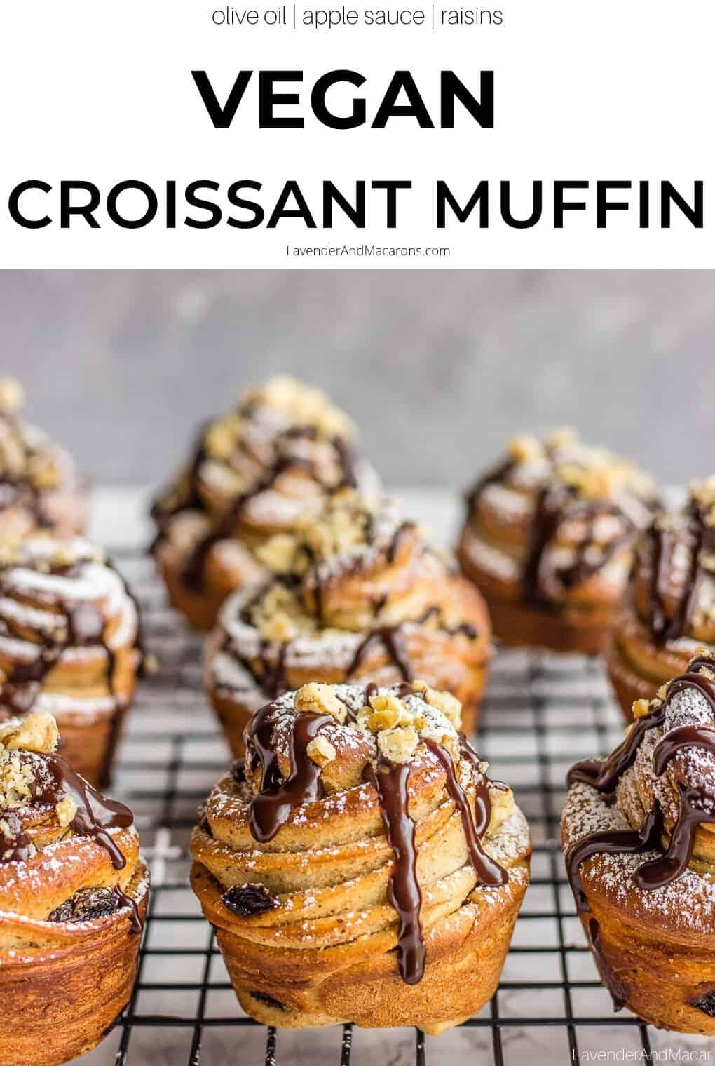 vegan croissant muffins pin