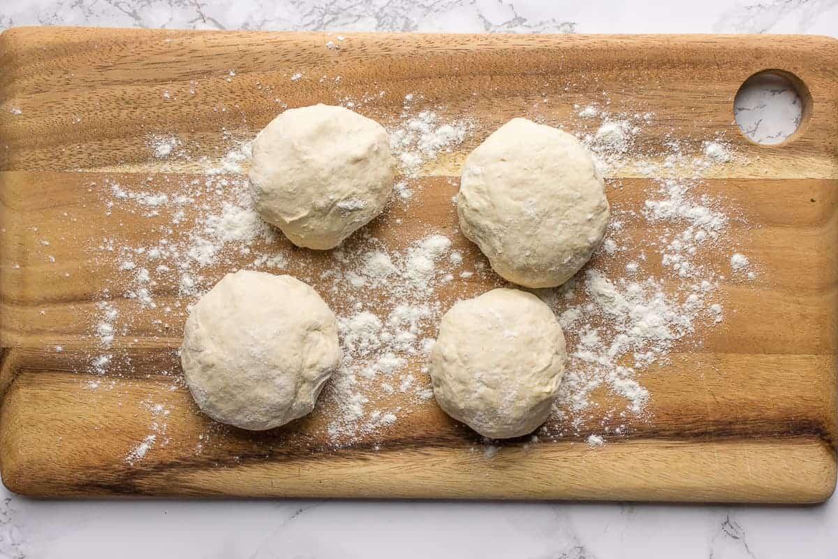 Flatbread dough balls