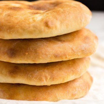 a stack of 4 Georgian flatbreads