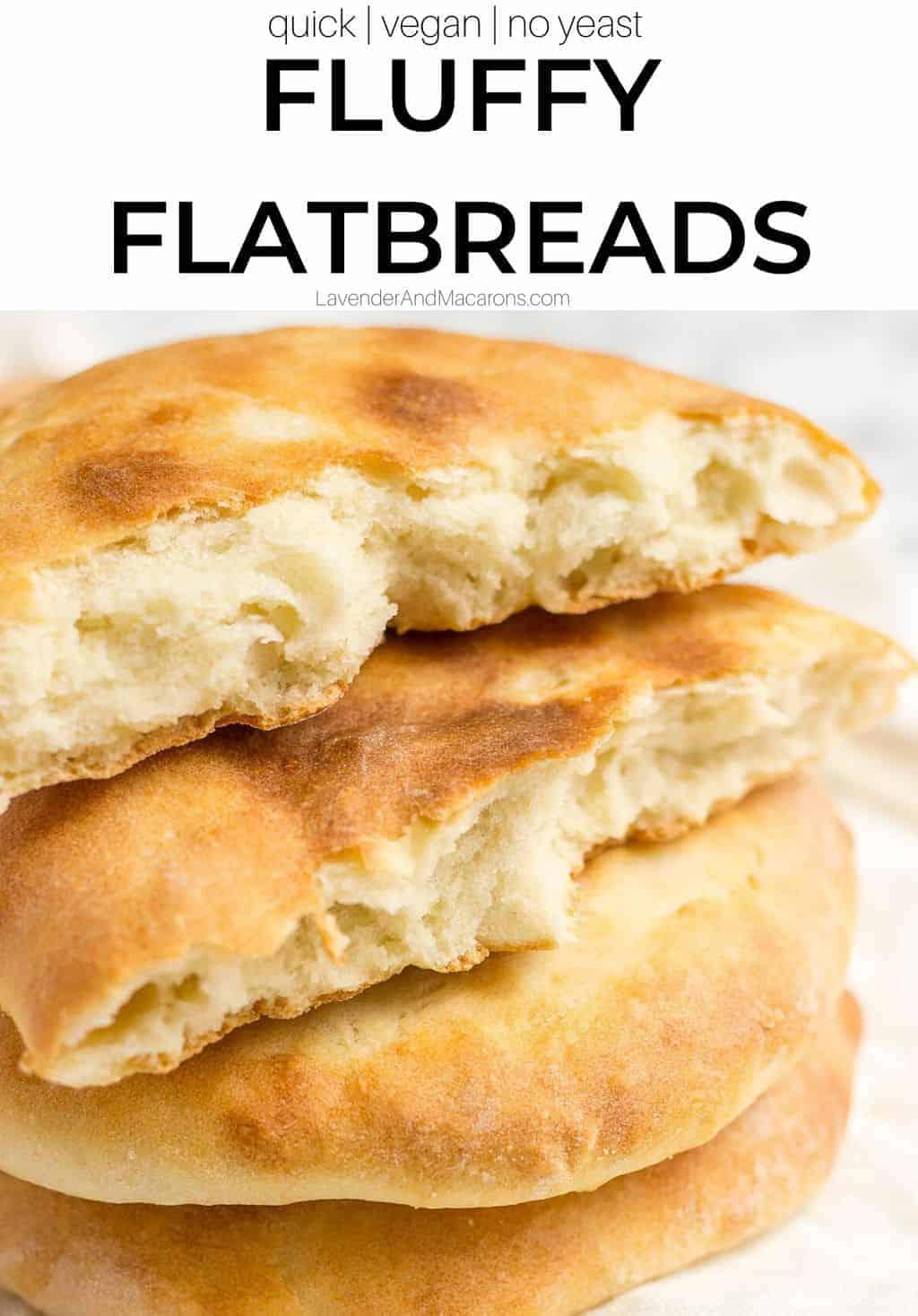 Pinterest image of Georgian flatbreads