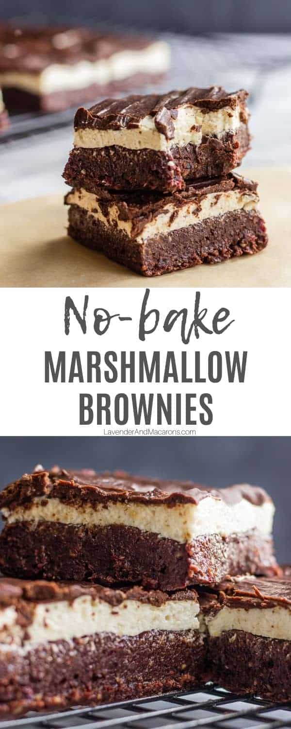 no bake brownie bars pinterest collage